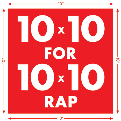 10×10 RAP CALL FOR ARTISTS, 2014