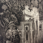 "2013_""Piranesi's Garden"", aquatint and etching, 42""x24"". (c)Jocelyn Fifield."