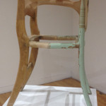 "2013_Untitled (chair), wood, nylon, 48""x24""x36"". (c)Jocelyn Fifield."
