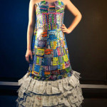 2013_Untitled, non-textile dress, scratch tickets and hot glue. (c)Lauren Dewey.