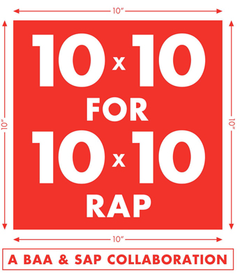 10×10 RAP CALL FOR ARTISTS, 2015