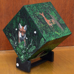 """Forest Creatures"", acrylic on box made by Dale F. Carver. (c)Debora Carver-Ellsworth."