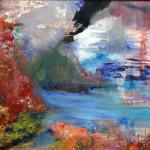 """Aroha"", acrylic, 16""x20"". (c)Shelagh Conley."