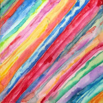 """""""Watercolor Exploration"""", watercolor pens on canvas. (c)Jamie Badore."""