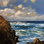 """Rocky View"", oil on canvas. (c)Val Bessett."