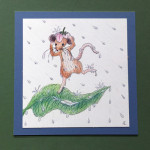 """The Very Wet Mouse"", pen and colored pencil. (c)Fiora Caligiuri Randall, age 13 years."