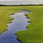 """A Marsh on the Cape"", oil on canvas. (c)Marilyn Cavallari."