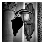 """St. Mary the Morning Star, Side Entrance Lantern Sconce"", digital photograph. (c)Sara Clement."