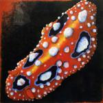 """""""Copper Slug"""", acrylic on archival paper. (c)Gail Downey."""