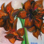 """Amaryllis"", oil on canvas. (c)Keith Emerling."