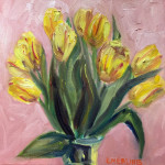 """Yellow Tulips"", oil on canvas. (c)Keith Emerling."