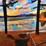 """Berkshire Livin' (Lake Shot)"", photo print mounted on canvas. (c)Nicholas Guercio."