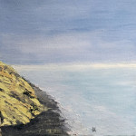 """High Tide at Seawall"", oil painting. (c)Ghetta Hirsch."