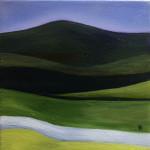 """Morning Run"", oil painting. (c)Ghetta Hirsch."