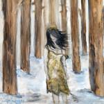 """Lost Soul"", acrylic on canvas. (c)Jennifer Huberdeau."