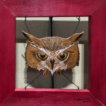 """Owl"", leather. (c)Michael King."