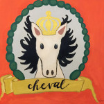 """Cheval"", mixed media. (c)Jayme Kurland."
