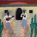 """""""Dawn in Mexico"""", acrylic on canvas. (c)Nicol Maciejewska."""