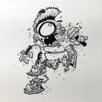 """Punk"", archival ink on canvas. (c)Greg Matusic."
