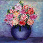"""""""Rose Bouquet"""", acrylic. (c)Erika Oliver."""