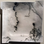 """Horsehair Raku"", ceramic. (c)Barbara Patton."