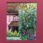 """Hancock Shaker Village"", watercolor. (c)Mary Rentz."