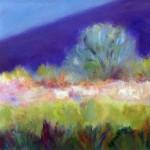 """Russian Olive, Taos, NM"", oil on paper. (c)Robin Schmitt."