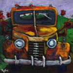 """""""Earl"""", Golden acrylics on canvas. (c)Scott Taylor."""