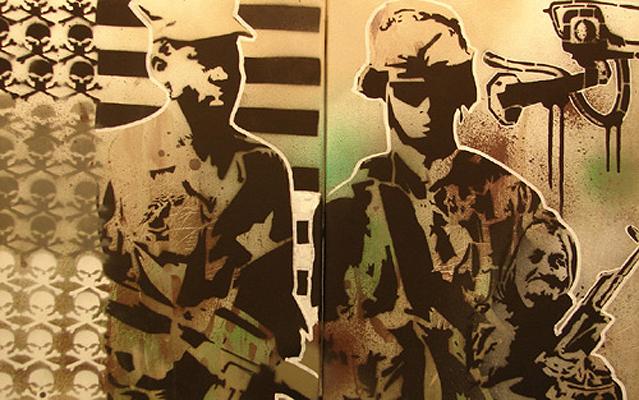 2007_stencil, spray paint, paint marker. (c)Tony Sadowy.