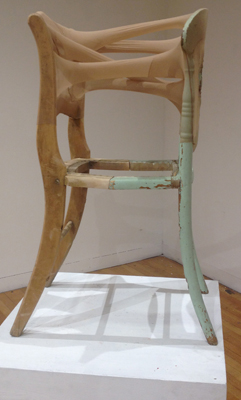 2013_Untitled (chair), wood, nylon, 48