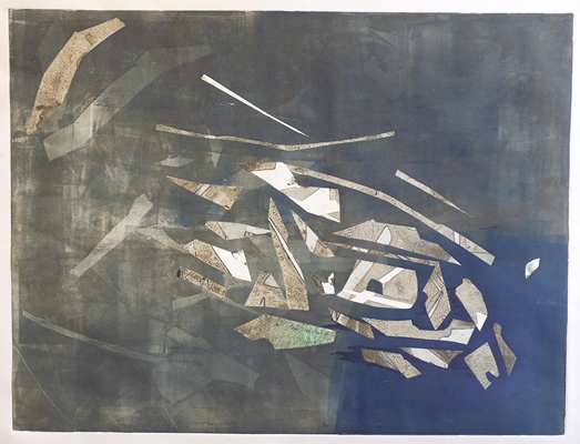 2013_Untitled 1, monotype print, 22