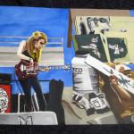 "2014_""Mentors"", acrylic on canvas paper, 12""x16"". (c)Amy Modesti."