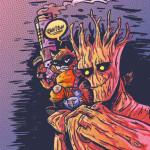 """Rocket Racoon and Groot"" (c)Joe Hunter."
