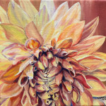 """July Dahlia"", oil on canvas. (c)Stephanie Cohen."