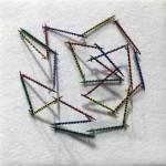 """Toothpick Tarantella"", wood, wire, felt. (c)Pat Frik."