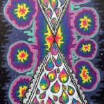 """Cosmic Print"", ink. (c)Amanda Hartlage."