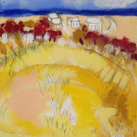 """P-Town Dunes"", mixed media. (c)Ellen Joffe-Halpern."
