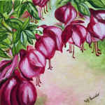 """Fuchsia in Bloom"", oil on canvas. (c)Mary Jane Lucido."