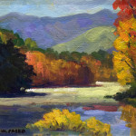 """Autumn on the Lake"", oil on canvas. (c)Walt Pasko."