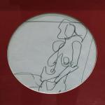 """Reclining Figure"", ink on paper. (c)Joan Rooks."