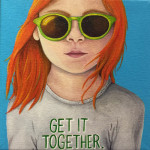 """Get it Together"", acrylic. (c)Stephanie Van-Bramer."