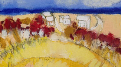 support the annual appeal Town- Dunes, mixed-media; by Ellen P. Joffe-Halpern-Ellen